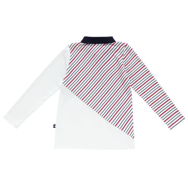 Boys Long Sleeve Bay Striped Polo