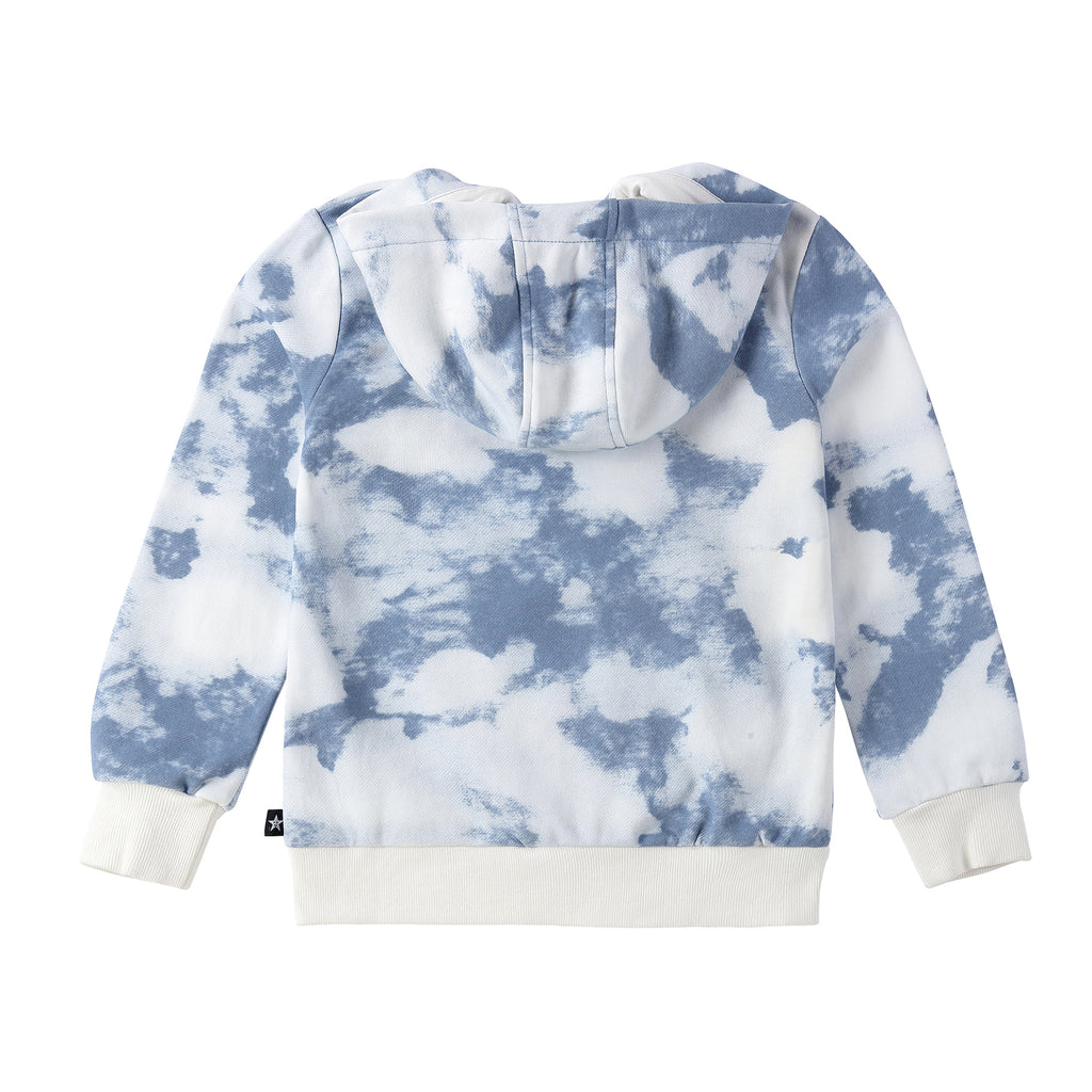 Tie- Dye Zip up Sweatshirt  in Wave