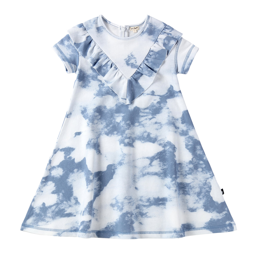 Girls Tie-Dye Dress in Wave