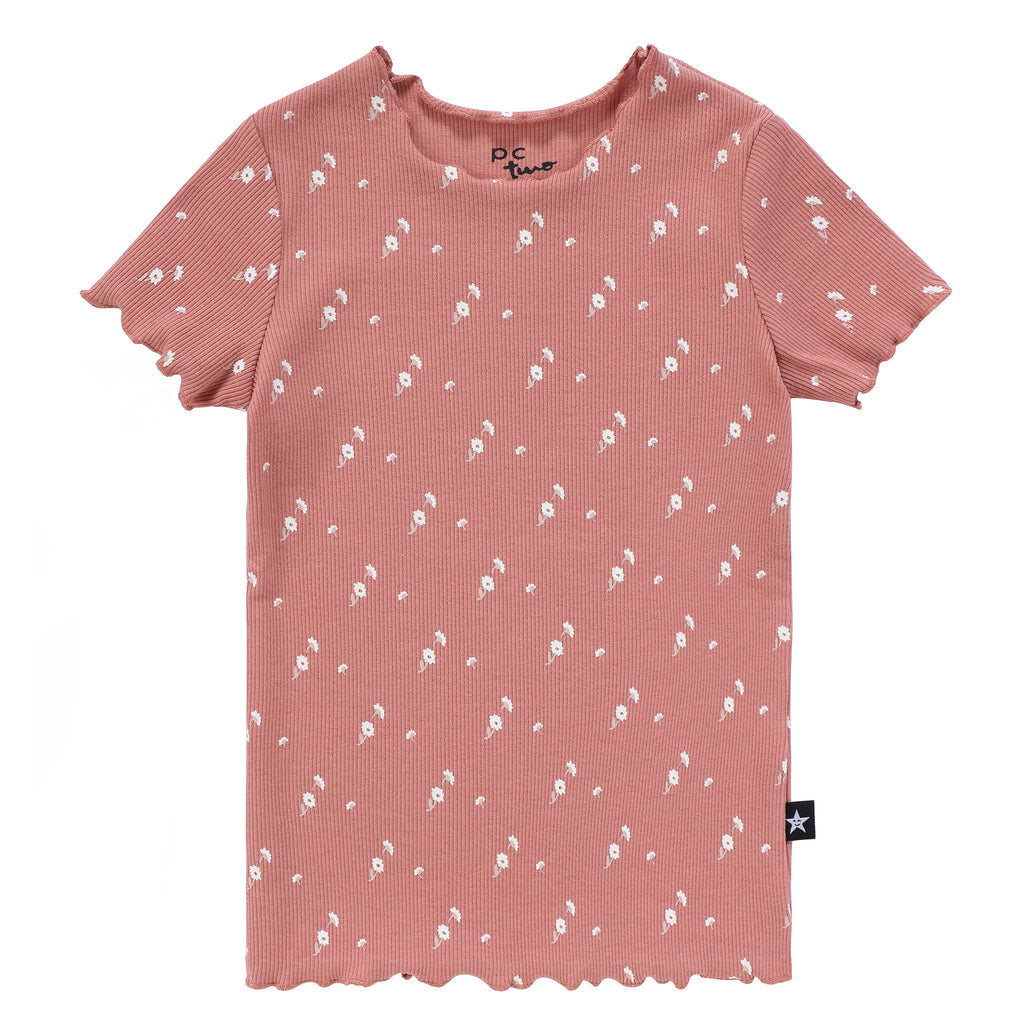 Girls' Flower Print T-shirt