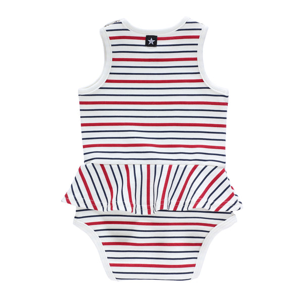 Baby Girls Bay Striped Romper