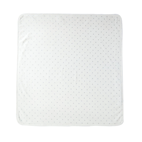 Baby Velour Blanket in Ivory Polka Dot