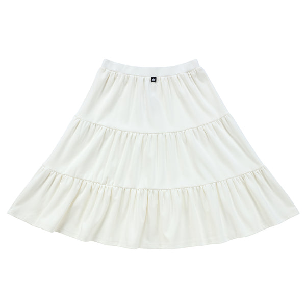 Teens Tiered Skirt in Ivory