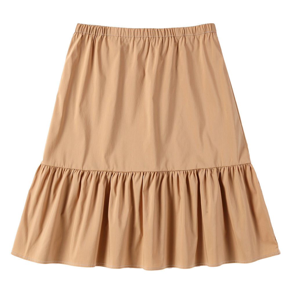 Teens Buttoned Skirt in Latte