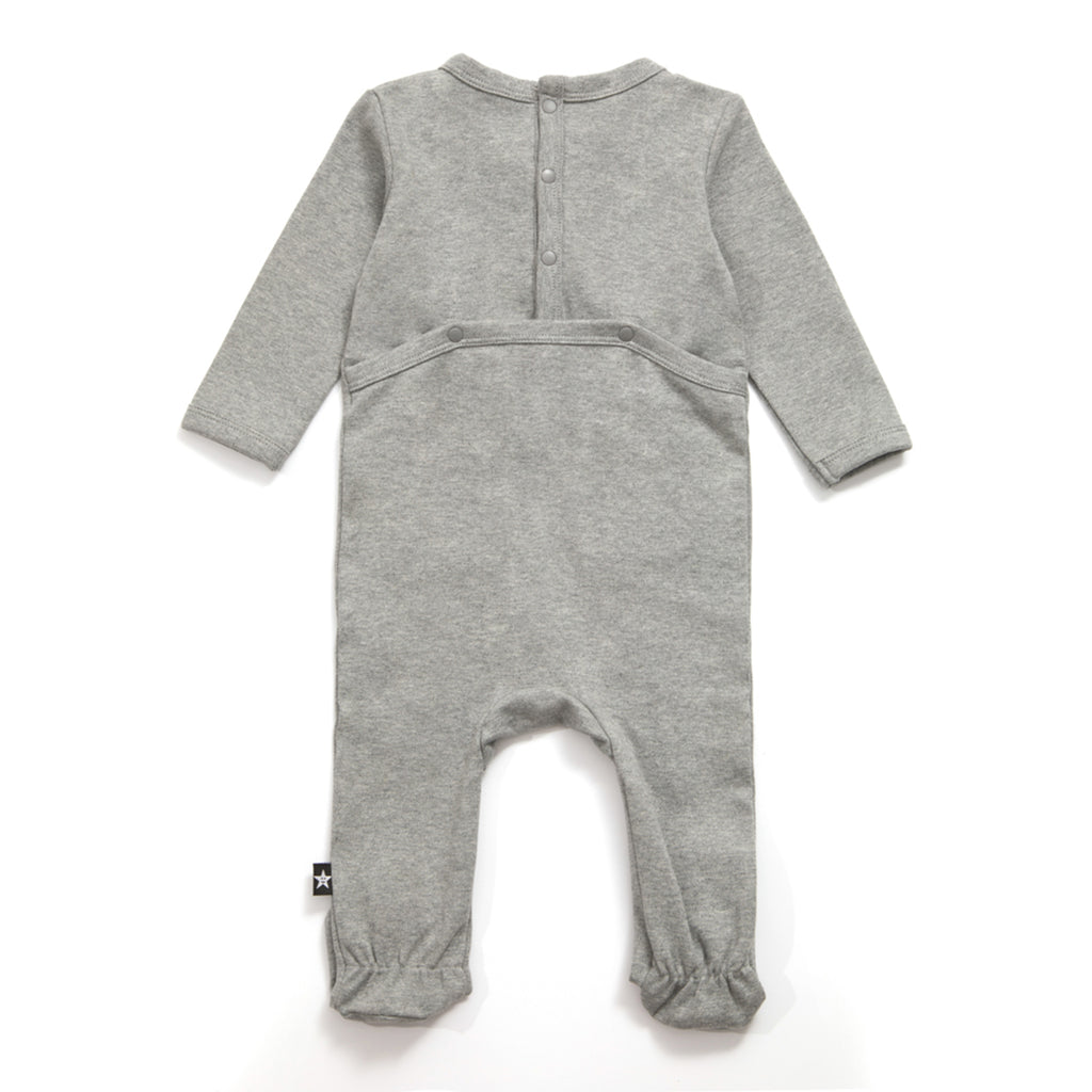 Contrast Stitch Pocket Detail Onesie in Heather Gray