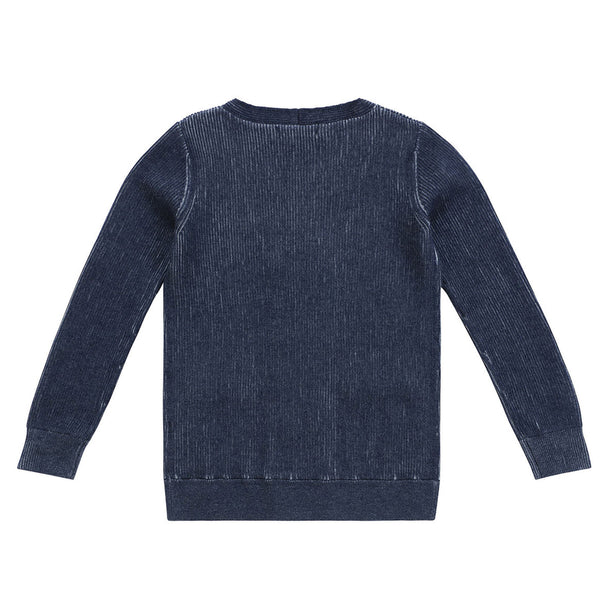 Boys Double Breasted Dark Blue Sweater