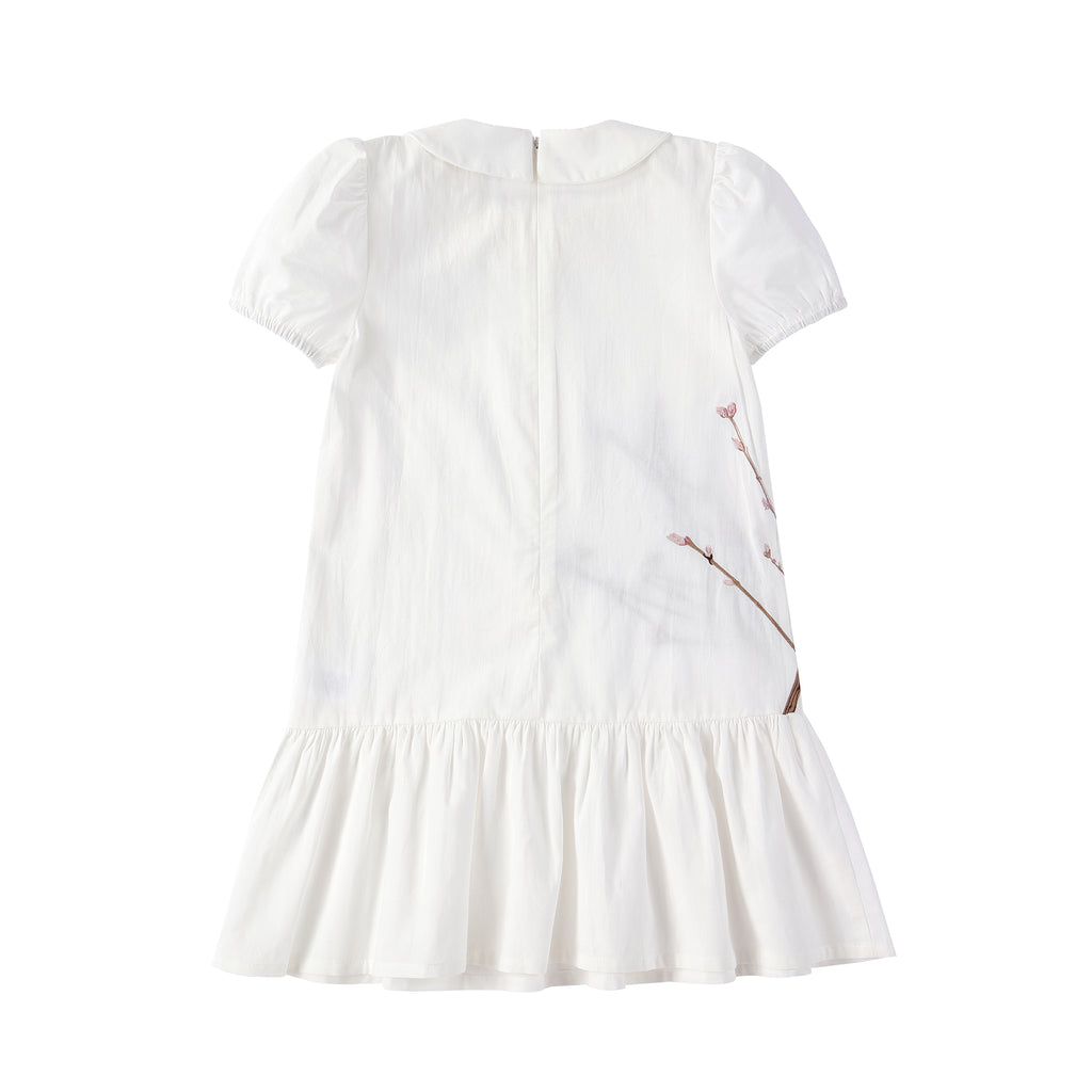 Girls Floral Embroidered Dress