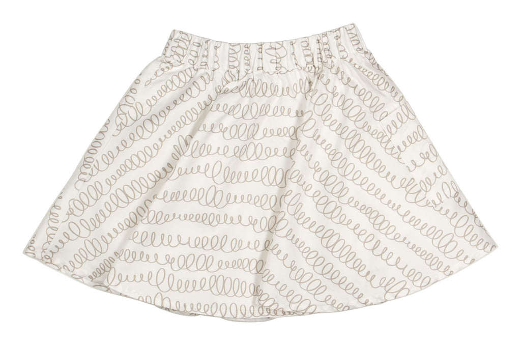 Cece Pocket Skirt in Wire Print