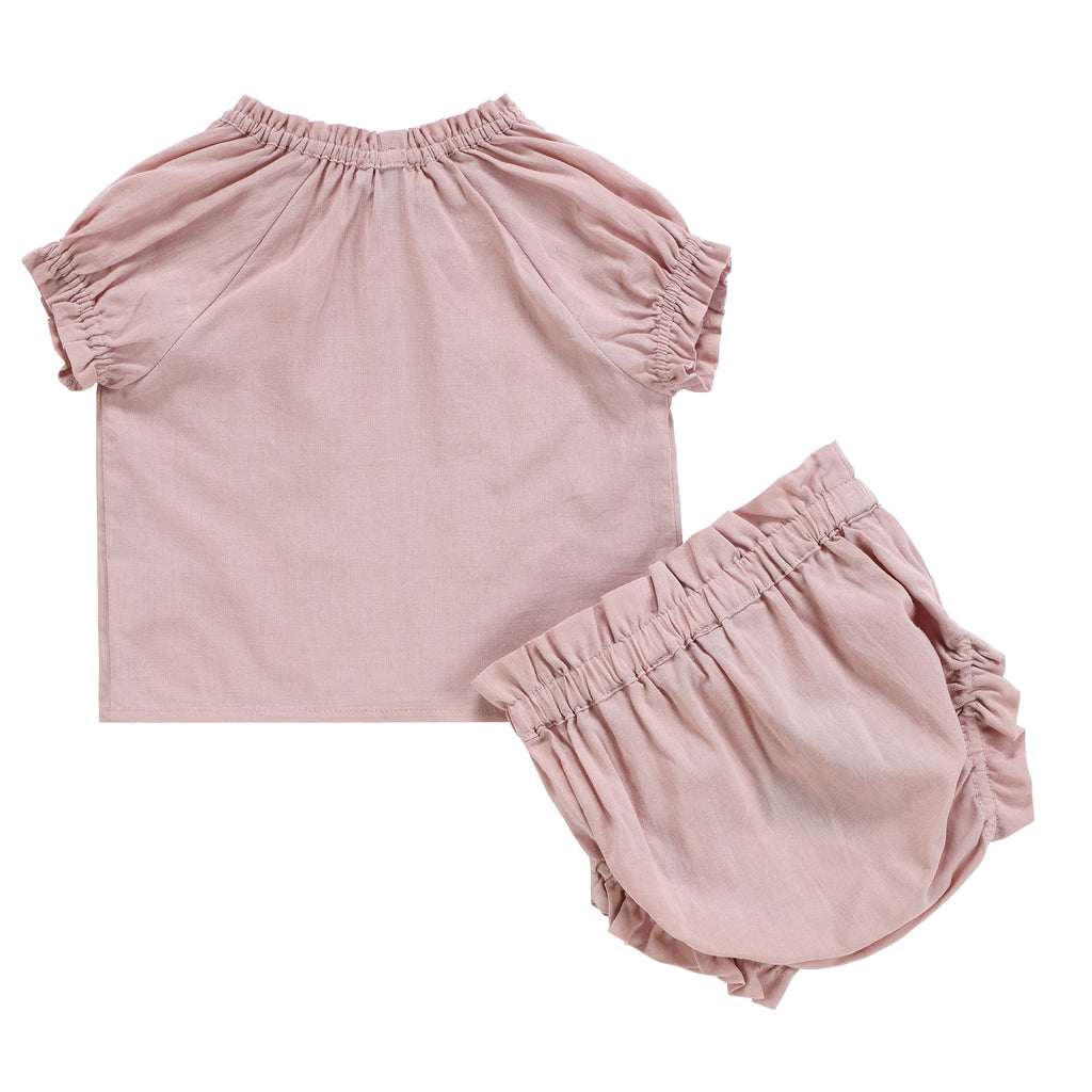 Baby Girls Blush Linen Set