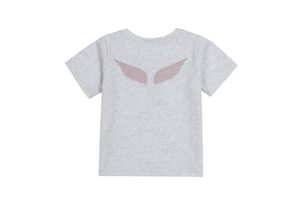 Baby Tee Shirt in Wing Print