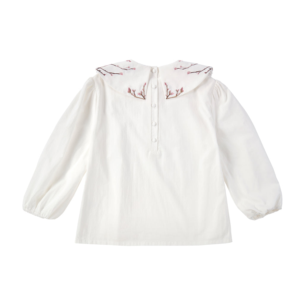 Teens Floral Embroidered Collared Shirt