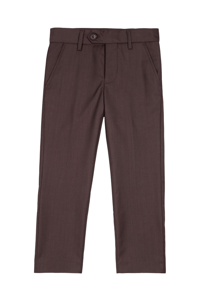 Arden Boys Pants in Brown