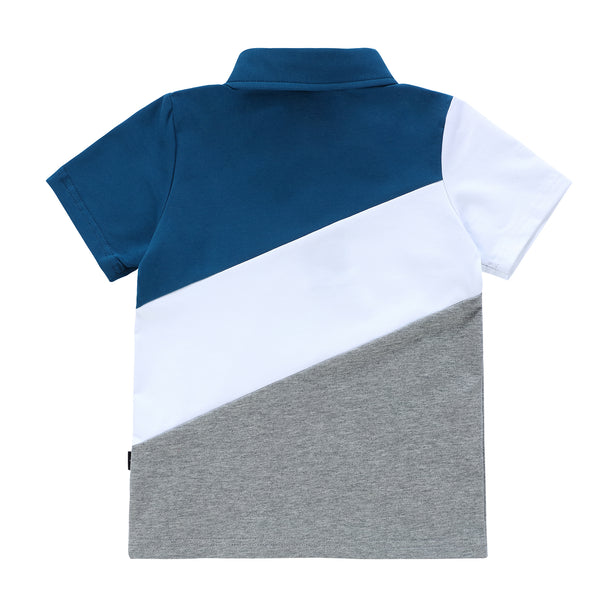 Boys Blue and Grey Polo