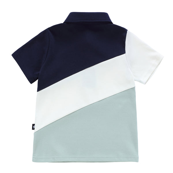 Boys Navy and Sage Polo