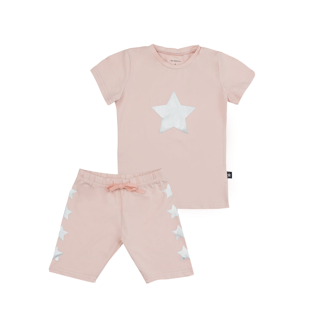 Pink Short Sleeve Star Pajamas