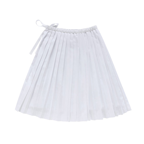 Signature White Pleated Skirt