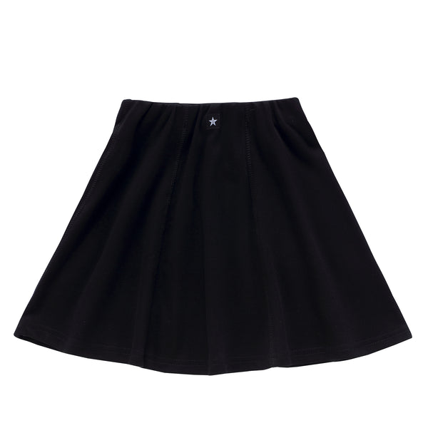 Girls Paneled Skirt in Black