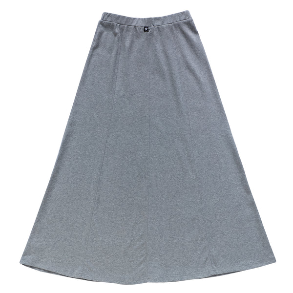 Teens Paneled Maxi Skirt in Heather Grey