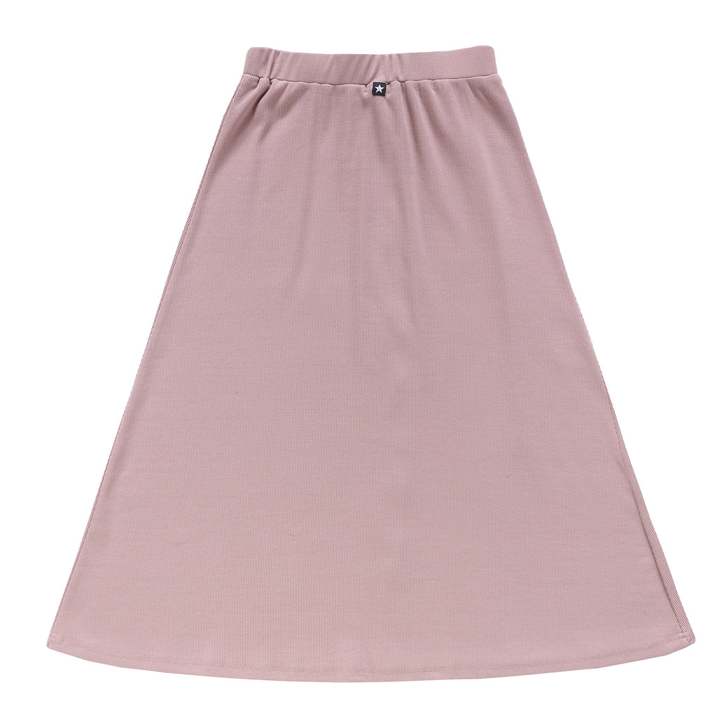 Teens Button-Down Maxi Skirt in Blush