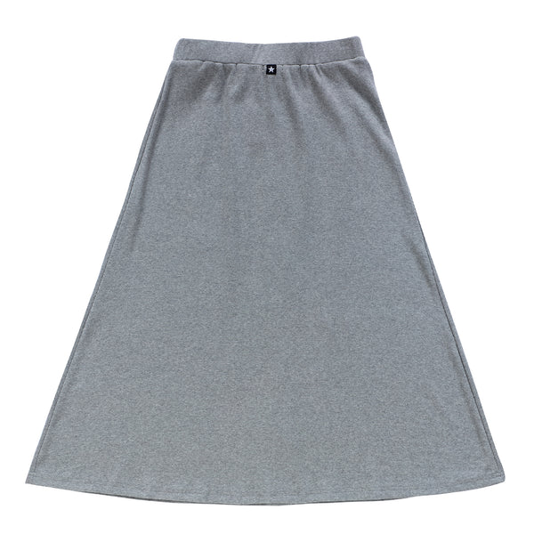 Teens Button-Down Maxi Skirt in Grey