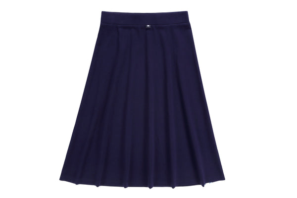 Girls Navy A-line Skirt