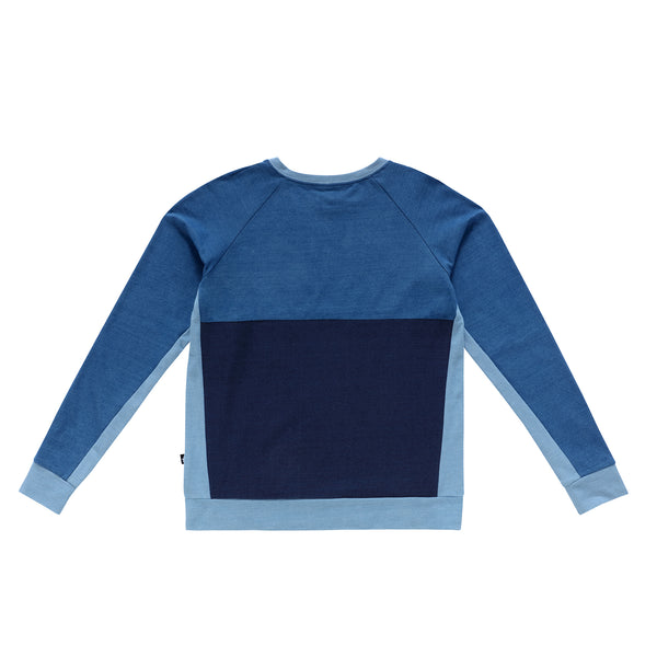 Teens Denim Colorblock Sweatshirt