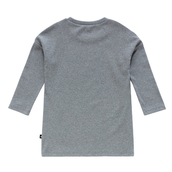 Teens Basic Ribbed Grey Tshirt