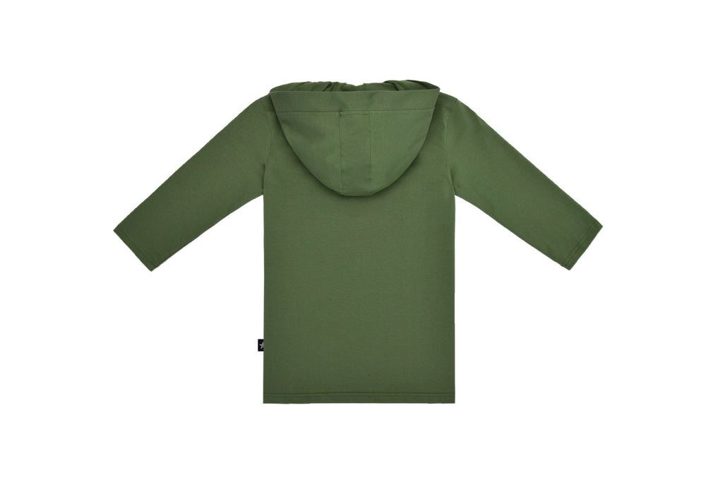 Teens' Hooded Tshirt in Olive