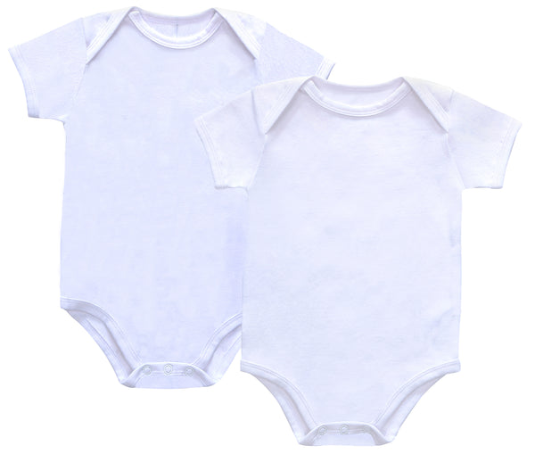 Baby Basic White Bodysuit- NEW