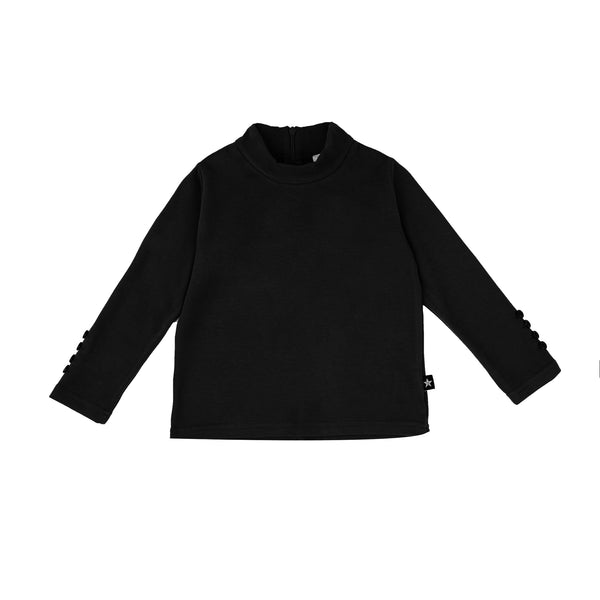 Baby Moc Neck shirt in Black