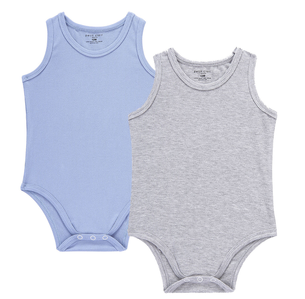 Baby 2pc Color Ribbed Bodysuit