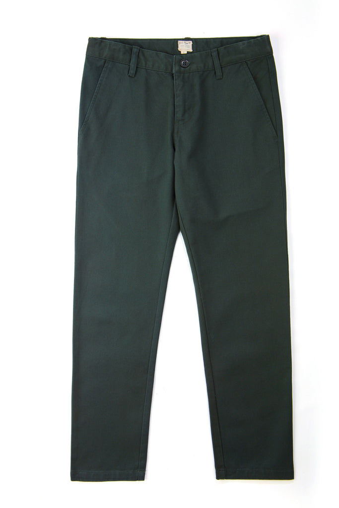 Boys Modern Fit Chinos in Green