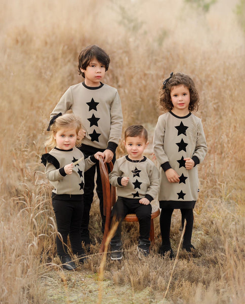 Boys Velvet Star Detail Sweatshirt