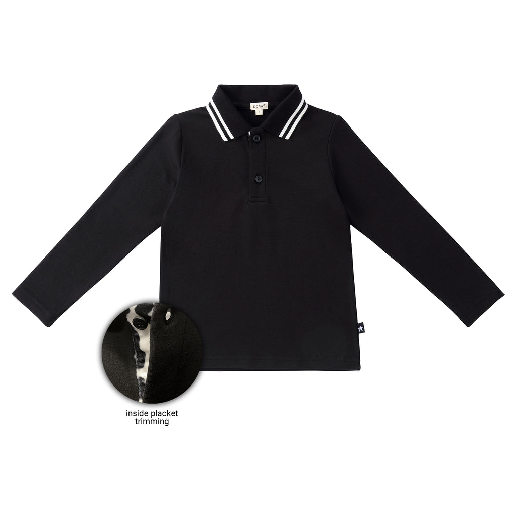 Boys Polo with Leopard Detail
