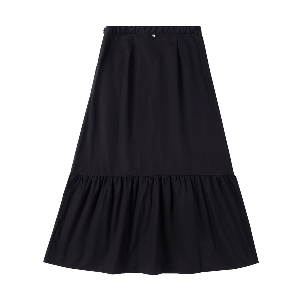 Teens Faux Button Skirt in Black