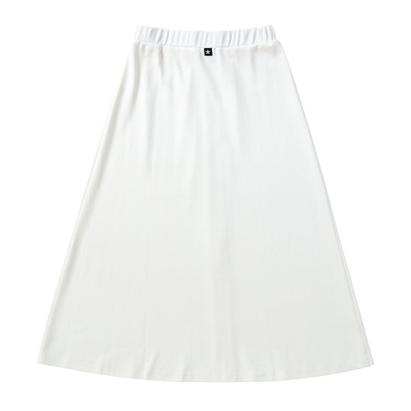 Teens Button-down Maxi skirt in White