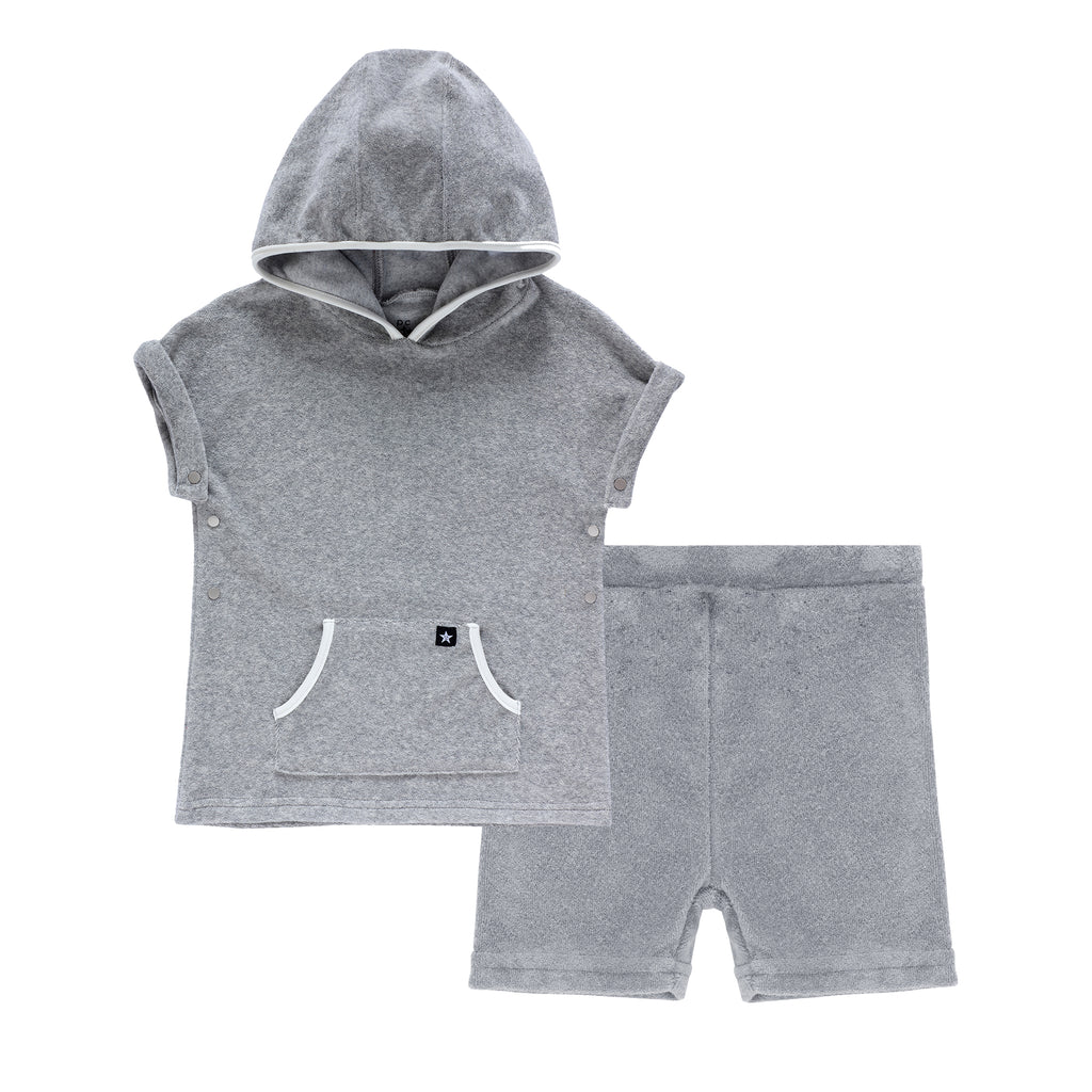 Boys Grey Terry Set