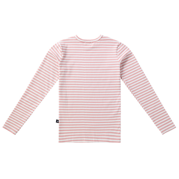 Teens Ribbed Tshirt in Soft Pink