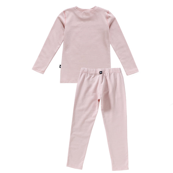 Pinstripe Pajamas in Pink