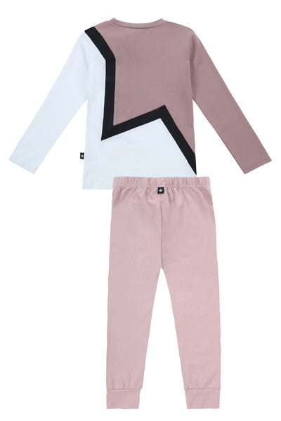 Star Pajamas in Blush