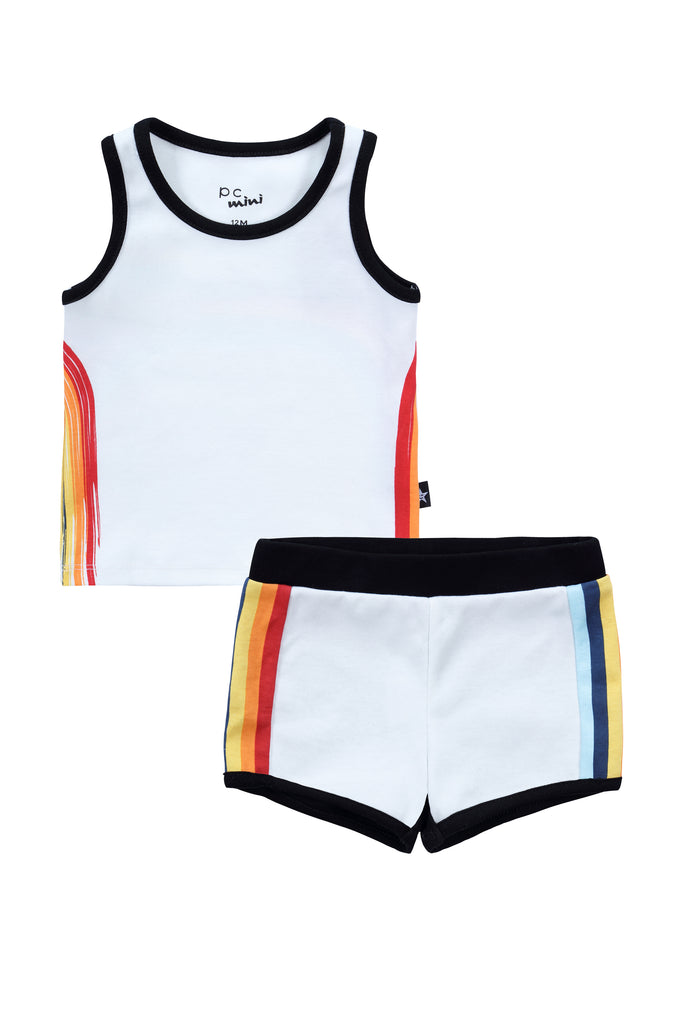 Baby Boy Rainbow T-shirt Set