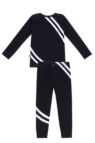 Stripe Pajamas in Black