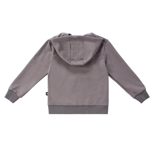 Grey Star Hooded Sweatshirt