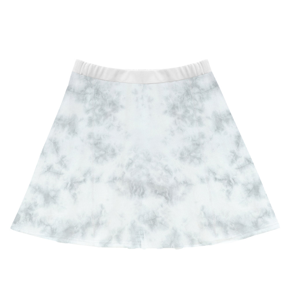 Teens Grey Watercolor Skirt