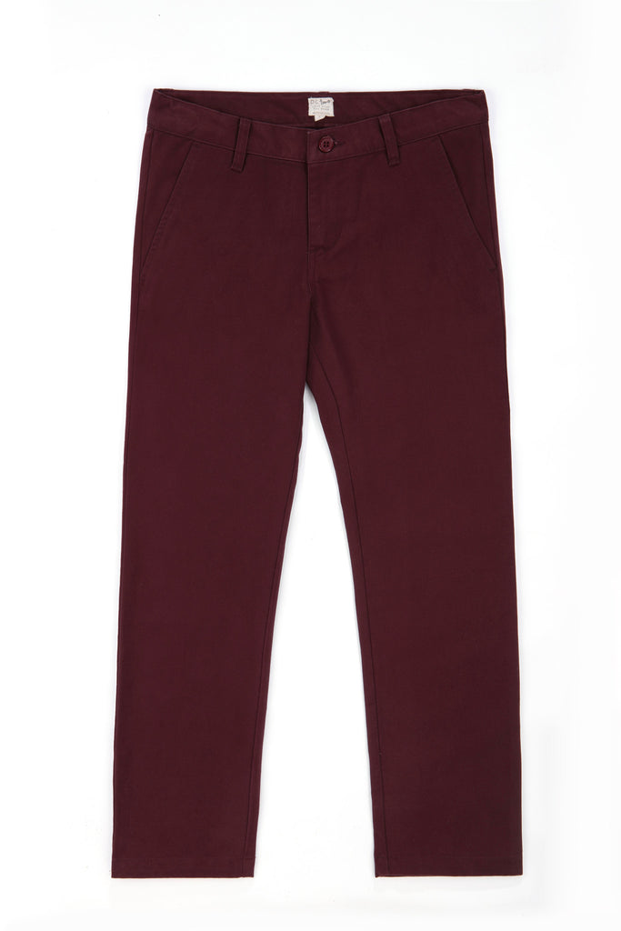 Boys Modern Fit Chinos in Plum