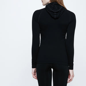 Seamless Cashmere Micromodal Hoodie