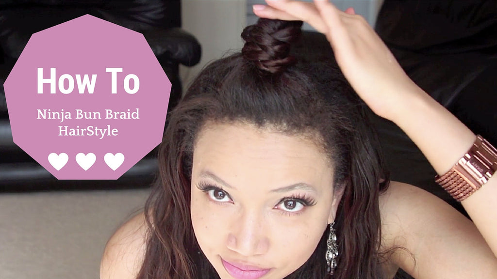 How to Ninja Bun #Braid Tutorial + Clip in Hair Extensions Spring 2016