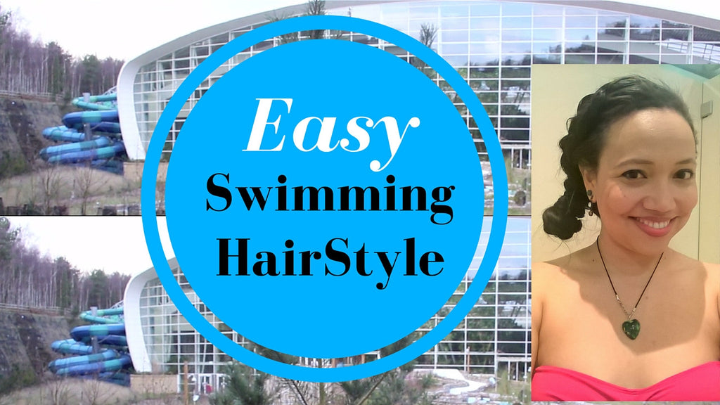 Easy Swimming HairStyle + Sunbathing Tips