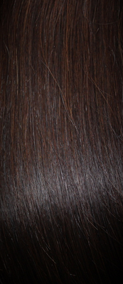 Clip in Hair Extensions Remy Mocha Brown (1B#)