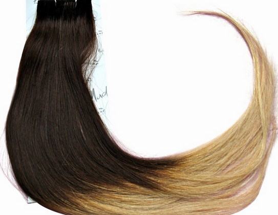 Clip in Hair Extensions Ombre Brown to Blonde